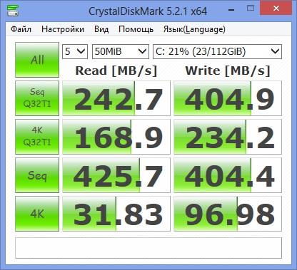 Тестирование быстродействия SSD