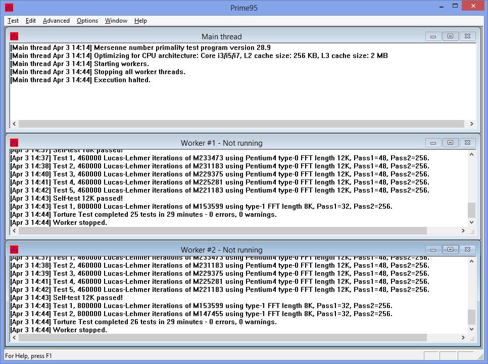 Тестирование стабильности работы CPU - бесшумный ПК